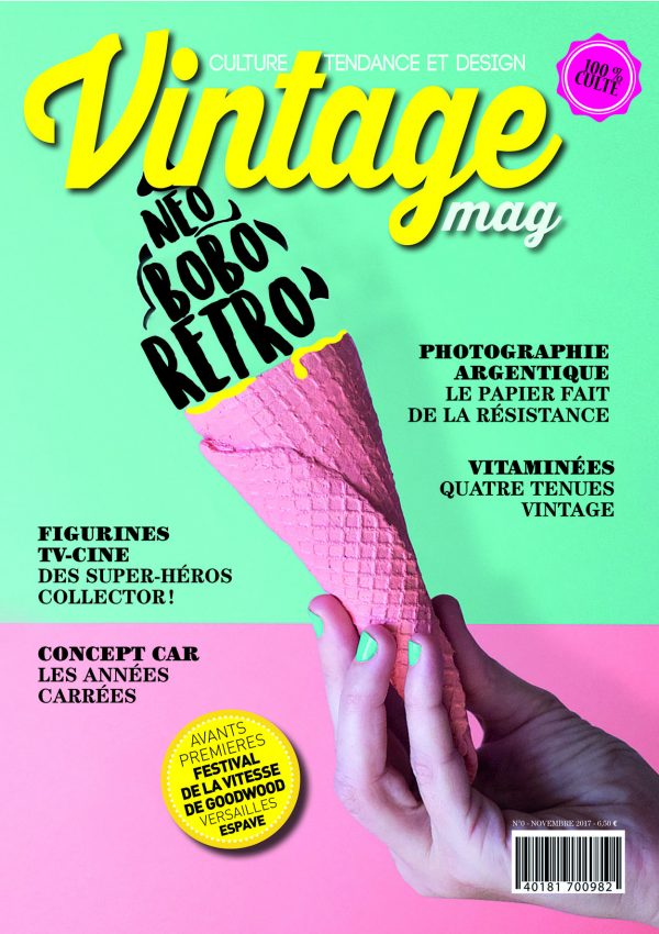Conception graphique et design du magazine « Vintage »